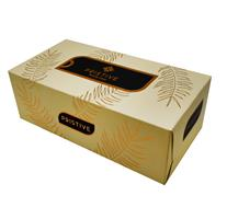 Pristive Facial Tissue, Golden Wheat Design, 300 Sheets