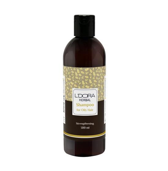 شامپو گیاهی مناسب موهای چرب لدورا هربال 300 میلیلیتر
